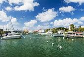 Bridgetown sea canal in Barbados