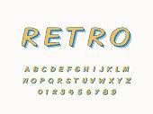 Stylish trendy logotype Retro Bar. 3D colorful Font