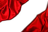 Red silk or satin luxury fabric texture can use as abstract background.