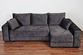 Dark grey cozy sofa
