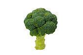 Fresh tasty broccoli isolated on white background.