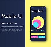 Mobile application interface. Ui design, vector illustration