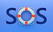 Life belt and SOS word