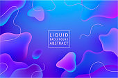 Vector abstract liquid flow background. Fluid gradient 3d shapes composition. Futuristic design poster, landing page, illustration.