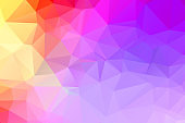 Purple vivid polygonal abstract background