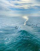 Surfing Huntington Beach California USA