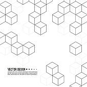 Vector pattern of cubes.