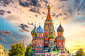 St. Basil's Cathedral ancient architecture on Red Square in Moscow City, Beautiful ancient architecture building in Moscow City, St. Basil's Cathedral church Cathedral of Vasily the Blessed, Russia, Bucket list dream destination.