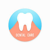 Tooth. Dental, medicine and health concept design element