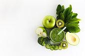 Spring detox food before the beach season. Clean eating concept.