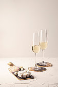 Luxury home accessories made of epoxy resin. Coasters for wine and food
