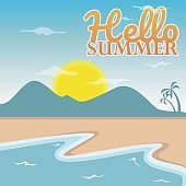 Summer day theme vector image design