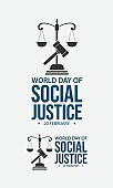 World day social justice vector