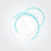 Technology circle with dots. Vector illustration
