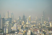 PM 2.5 Air pollution of bangkok city thailand.Bangkok City the capital of Thailand.
