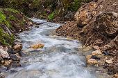 San Nicolò river, San Nicolò valley, Dolomites, Italy