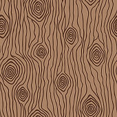 Vector seamless pattern of wood texture. Hand drawn design for fabric, wrapping, wallpaper, textile