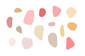 Vector set of stones of various shapes. Abstract shapes and natural colors for trendy design