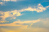 Sky blue and clouds background