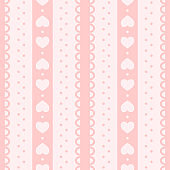 Vector seamless pattern for Valentine's Day. Cute, romantic design for fabric, wrapping, wallpaper