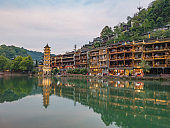 Scenery view of fenghuang old town .phoenix ancient town or Fenghuang County is a county of Hunan Province