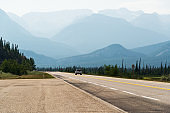 yellowhead highway scenery, Jasper National Park, Alberta, Canada