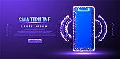Neon glitter Background