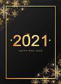 Christmas and New Year 2021 greeting card