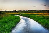litchfield connecticut bantam river sunset