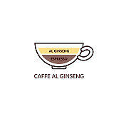 Coffee drink named Caffe al Ginseng in cup, cartoon vector illustration isolated.