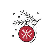 Christmas toy icon on white background.