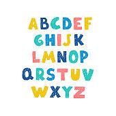 Positive colorful alphabet for children