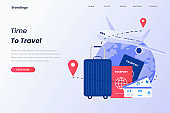 Illustration of time to travel for landing page