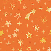 Colorful modern seamless pattern with star shape