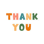 Thank you - fun hand drawn lettering