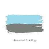 Autosexual lgbt vector watercolor flag