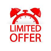 Red limited offer. Special offer badge. Big sale special offer. Vector background. Store label. Vector illustration.