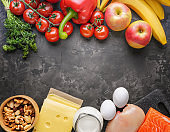 Balanced and healthy diet, cooking at home, culinary and domestic food concept.