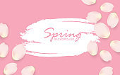 Spring background concept with nature style