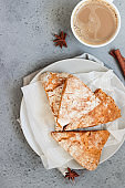 Pumpkin scones with cinnamon and anise.