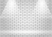 White brick wall is texture vector for use wallpaper. Abstract pattern light stonewall background.