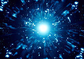 Radiating rays illuminating outer space