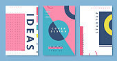 Abstract   Geometric Shapes Placards. Vector illustration
