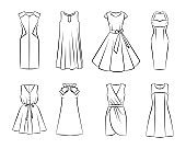 Collection of woman fashion dress
