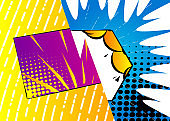 Pop art comic design colored background.