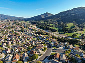 Aerial view of residential subdivision house town in Temecula