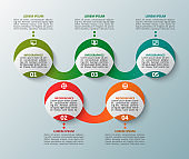 Abstract 3D Paper Infographics. Business template .Vector illustration