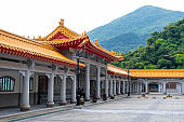 Jinshan Temple April 14,2019 : Famous temple at Jeufen Keelung Taiwan.