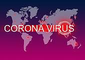 Coronavirus pandemic over globe China