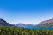 Lama Lake on Putorana Plateau. Taimyr, Russia